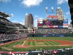 Cleveland Indians - Field - in Ohio - Went to and Indians gae with my pal Ben from Law school - I did my best to make Ohio fun when I lived there, lol