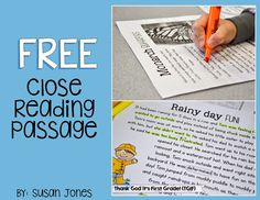 5 Free Close Reading Ideas and Activities!