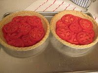 Tomato pie 1 deep dish pie shell tomatoes sweet basil salt and pepper 1 chopped onion 1 cup cheddar cheese 1 cup mayonnaise Bake pie shell until almost done. Tomato Dishes, Tomato Pie, Beef Dishes, Vegetable Pie, Vegetable Recipes, Pie Recipes, Dessert Recipes, Desserts, Postres