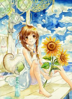 sunflower anime