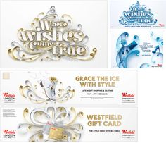 Yulia's work for Westfield Christmas campaign