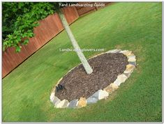 Think retaining walls for flower beds, beautiful garden paths, and bubbling wate. - Think retaining walls for flower beds, beautiful garden paths, and bubbling wate… – Think reta - Landscaping Around Trees, Stone Landscaping, Landscaping Retaining Walls, Landscaping With Rocks, Front Yard Landscaping, Landscaping Ideas, Outdoor Landscaping, Landscape Borders, Garden Borders