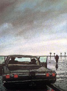 'J.P. Melville' by Jacques de Loustal, 1984.