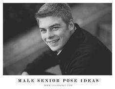 Male senior posing ideas