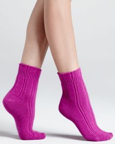 Cozy Ribbed Bedsocks by Falke at Neiman Marcus.