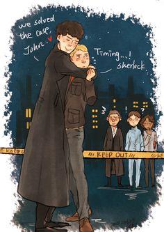 """""""Timing, Sherlock."""" People might talk. lol."""