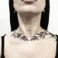Floral neck wrap by Vlada Shevchenko