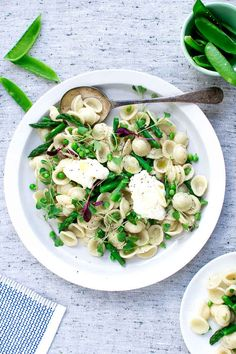 Orecchiette with Peas, Asparagus, and Mascarpone
