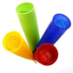 Norpro 431 Silicone Ice Pop Maker Set: nice size for frozen smoothies for littles Gelato, Ice Pop Maker, Homemade Popsicles, Homemade Ice, Stocking Stuffers For Kids, Ice Pops, Kitchen Essentials, Raw Food Recipes, Drink Recipes