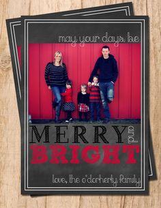 Chalkboard Merry & Bright Digital Personalized by MoonshyneDesigns