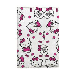 Hello Kitty passport Holder eco leather travel cover for document gift idea for woman kids