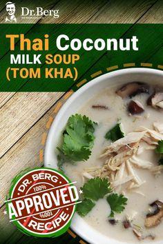 Thai Coconut Milk, Coconut Milk Recipes, Canned Coconut Milk, Dr Berg, 2 Ingredients, A Food, Diet Recipes, Food Processor Recipes, Soups