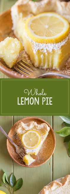 An easy and refreshing summertime dessert idea! The filling is made in the blender and uses one whole lemon!