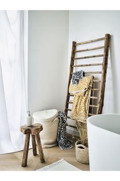 Kosz na pranie z pokrywką - Naturalna biel - HOME | H&M PL