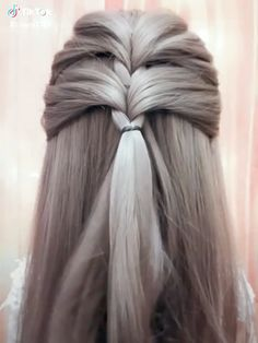 Super easy and very beautiful 💖💖 pour cheveux fins longs Hairstyles For Medium Length Hair Tutorial, Party Hairstyles For Long Hair, Ponytail Hairstyles Tutorial, Creative Hairstyles, Easy Hairstyles, Homecoming Hairstyles, Retro Hairstyles, Pictures Of Hairstyles, Interview Hairstyles