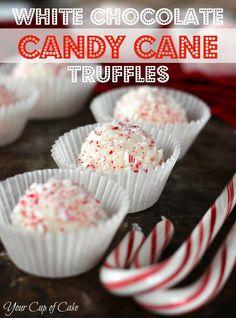 White Chocolate Candy Cane Truffles Recipe!