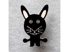 Animal Hooks - Roy the Rabbit  Handpainted Wall Wooden Hooks
