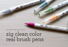 Zig Clean Color Real Brush Video by Jennifer McGuire Ink