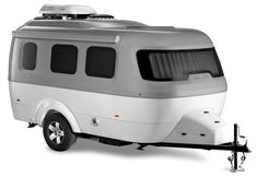 Byam's hopes for Airstream takes shape in Nest – the brand's very first fiberglass trailer that weights a mere pounds for easy towability. Photo 2 of 10 in Airstream's First Fiberglass Travel Trailer Is Now Available For Sale Airstream Travel Trailers, Small Travel Trailers, Rv Travel, Camper Trailers, Airstream Living, Airstream Basecamp, Airstream Bambi, Virtual Travel, Motorcycle Camping