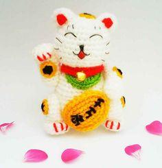 Maneki Neko Lucky Cat Amigurumi Crochet Pattern by HandmadeKitty=^_^=, via Flickr