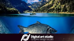 Фотомонтаж  Огромная рыба в озере | Photomanipulation – Giant fish in la...