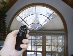 View our collection of designer window treatments and custom window coverings for your home. - Check Out THE IMAGE for Various Ideas for DIY Window Treatments. Arched Window Coverings, Curtains For Arched Windows, Modern Window Treatments, Window Treatments Living Room, Transom Windows, Bedroom Windows, Living Room Windows, Windows And Doors, Window Blinds