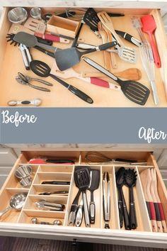 Super easy way to make custom drawer organizers!