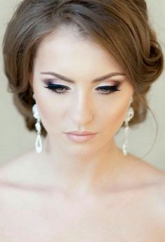 Makeup Looks Formal Wedding Hairstyles 68 Ideas Party Makeup Looks, Natural Wedding Makeup, Bridal Hair And Makeup, Wedding Hair And Makeup, Wedding Beauty, Hair Makeup, Party Hairstyles, Wedding Hairstyles, Braut Make-up