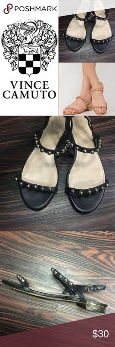 VINCE CAMUTO black sandals Black unique sandals by Vince Camuto. Size 9 Vince Camuto Shoes Sandals