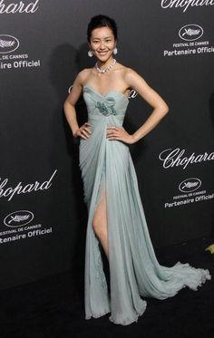 Best Cannes dresses ever: Liu Wen in Elie Saab, 2014