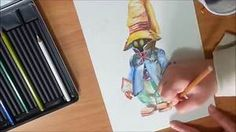 DRAWING TUTORIAL: HOW TO USE WATERCOLOR PENCILS FOR BEGINNERS
