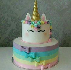 Matcha tea and nettle cake - HQ Recipes Unicorn Themed Birthday, Birthday Cake, Unicorn Party, Birthday Sheet Cakes, Bolo Fack, Pinterest Cake, Unicorn Cupcakes, Savoury Cake, Cute Cakes