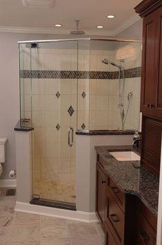 Master bath ideas on pinterest corner showers showers for Bathroom remodel 33411
