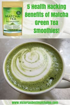Matcha Green Tea smoothies are so powerful and healthy that it hacks your health because it does so much good with such a small amount. Matcha Green Tea Smoothie, Green Tea Diet, Tea Smoothies, Matcha Green Tea Powder, Healthy Smoothies, Detox Tea Diet, Detox Drinks, Matcha Tea Benefits, Best Matcha Tea
