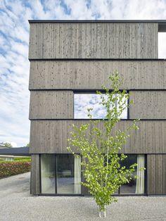 Doppelhaus Zürich Rossetti + Wyss Architekten Fassadenansicht © Jürg Zimmermann, Zürich