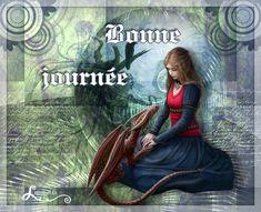 Bonne journée, fille, princesse, fantasy, dragon