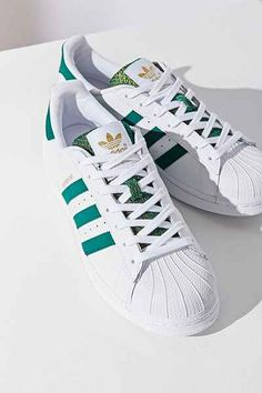 adidas Green Superstar Sneaker on ShopStyle