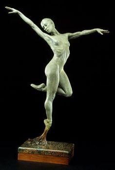 """Barry Eisenach,""""Gazelle"""" Bronze Sculpture"""