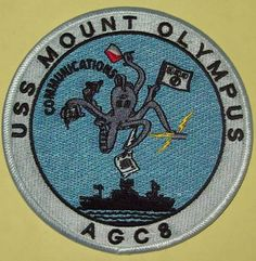 USS MOUNT OLYMPUS ( AGC 8 ) AMPHIBIOUS FORCE COMMAND SHIP MILITARY PATCH