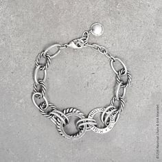 Nautical chain and link bracelet in burnished silver Designer Jewellery, Jewelry Design, Alchemy, Link Bracelets, Jewelry Collection, Nautical, Collections, Jewels, Chain