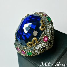 Authentic Turkish Ottoman Style Handmade 925 Sterling Silver Ring by Idil's Shop, $120.00