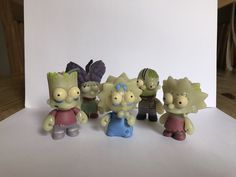 kidrobot the simpsons Treehouse Of Horror Rare zombie Family. Glow in the dark | eBay