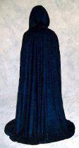 Navy BLUE Velvet Cloak Cape Wedding Wicca Medieval LARP by Artemisia Designs
