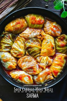 Delicious and simple recipe with a twist for Sour Cabbage Meat Rolls (Sarma) with step by step instructions.