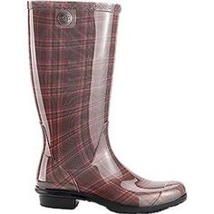 UGG Australia Womens Shaye Plaid Rain Boots Diva Pink 8 *** This is an Amazon Affiliate link. Learn more by visiting the image link.