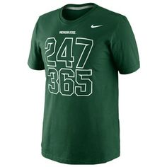This Nike MSU 24/7 t-shirt is for those who have never been able to find a t-shirt that accurately exhibits their passion of being a Spartan. $24.95