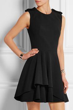 Alexander McQueen|Fluted stretch-crepe mini dress|NET-A-PORTER.COM