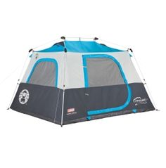 When you need to get your tent up quickly, put up the Coleman® Instant 6 Person Tent to keep everyone protected. This 6 person tent comes with pre-assembled poles that reduce setup time to just about 1 minute. It also features a built-in vented rainfly and the WeatherTec™ system with welded floors and inverted seams to keep water out. Make sure everyone stays safe and dry with the Instant 6 Person Tent.