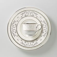 Noritake Silver Palace 5 Piece Place Setting China Tabletop And Dinnerware