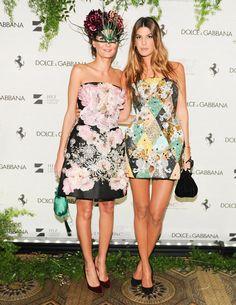 Giovanna Battaglia and Bianca Brandolini d'Adda in Dolce & Gabbana at the Save Venice gala.